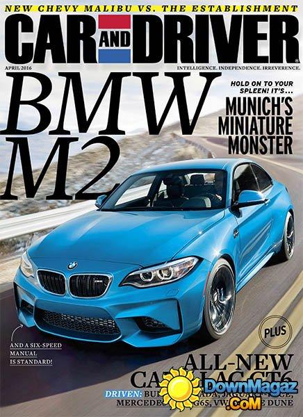 Car and Driver  April 2016  Download PDF magazines
