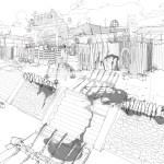Troop Bushido Base Drawing Sketch (Sunset Overdrive Concept Art)