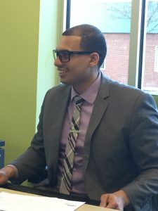 Juan at work wearing GUNNAR Optiks Work-Play Transitional Lens