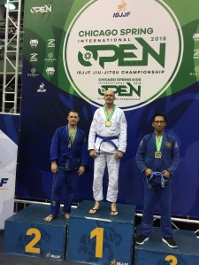 Shawn on the podium at the Chicago Open