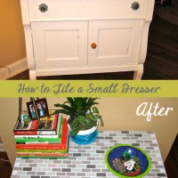 How to Tile the Top of a Small Dresser