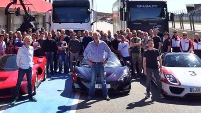 Hammond Clarkson May filming car show Amazon October 2015 MacLaren P1 LaFerrari