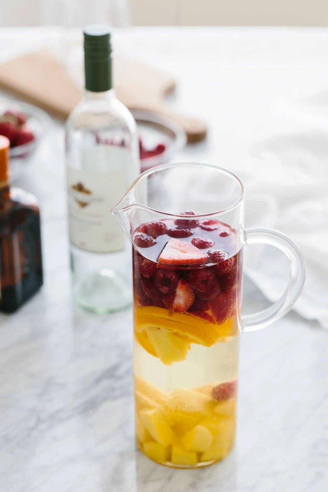 White Sangria with Mango and Berries  Downshiftology