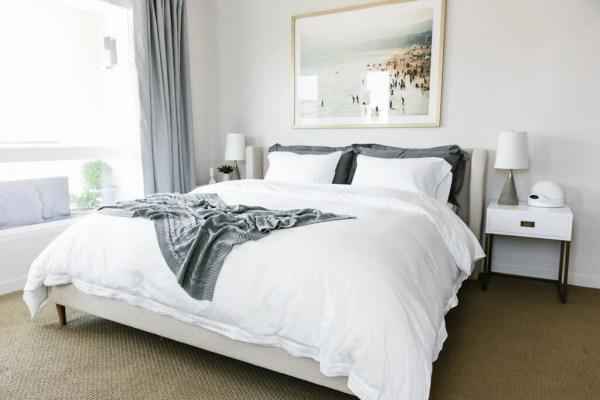 modern minimalist bedroom design My Modern and Minimalist Bedroom Design with Havenly | Downshiftology