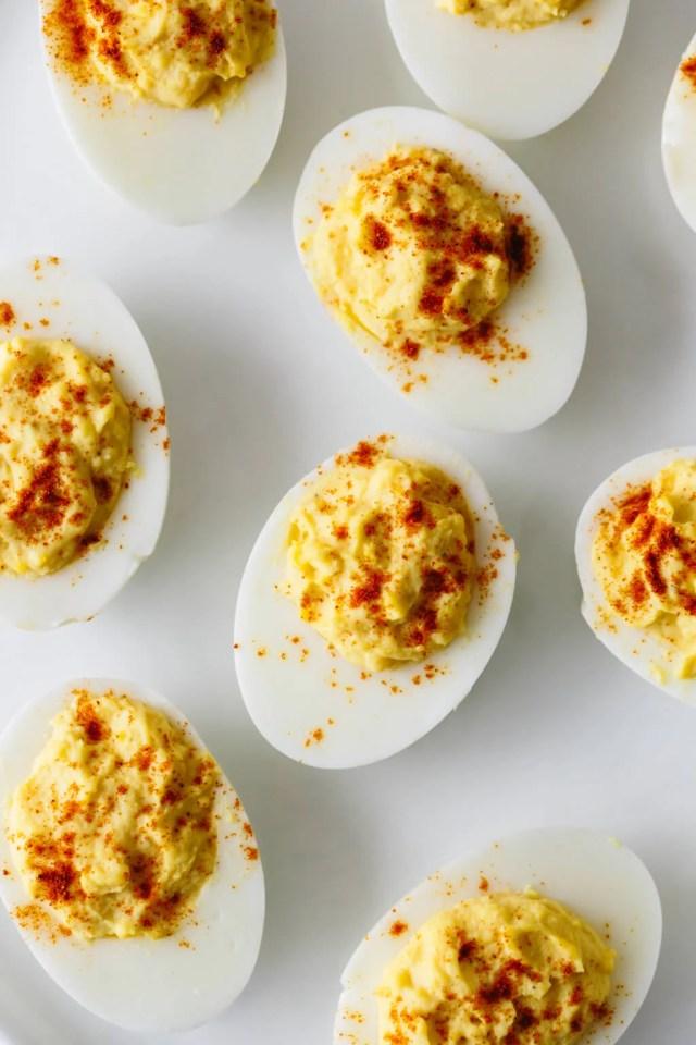 BEST Deviled Eggs Recipe - How to Make Deviled Eggs  Downshiftology