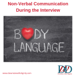 Non-Verbal Communication During the Interview