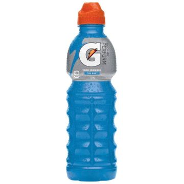 Gatorade® Cool Blue™ Sports Drink is scientifically proven to rehydrate lost fluids, replenish electrolytes lost in sweat, and refuel working muscles with carbohydrates. Crisp, refreshing flavour. This 6-pack of 591 mL bottles is specifically designed for athletes who want to be at their best in the gym, at practice, and in games.