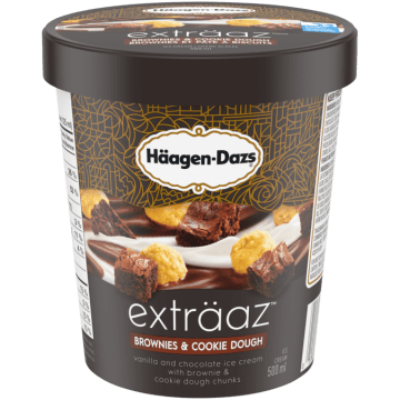 Haagen Dazs Extraaz Brownies and Cookie Dough