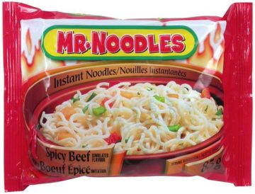 Mr Noodle Bag Size Spicy Beef