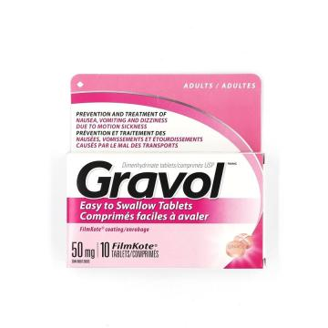 Gravol Dimenhydrinate Pills