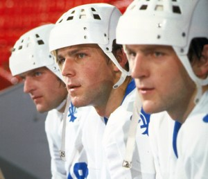 Peter Stastny center, flanked by brothers Marian (left) and Anton. All three played for the Quebec Nordiques in the 80s. Photos: HHoF