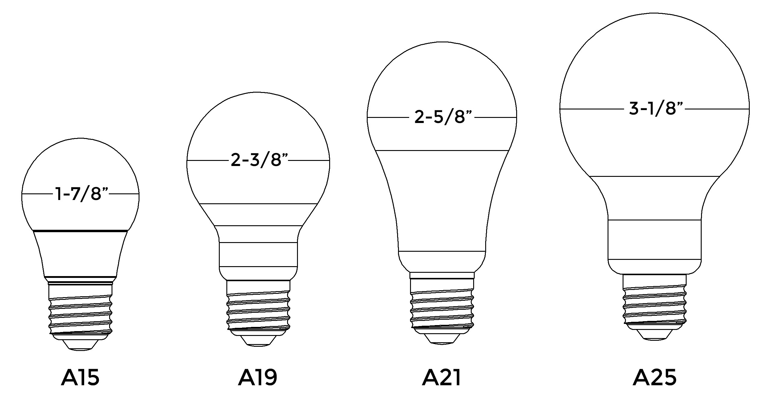 Fluorescent Light Bulb Sizes
