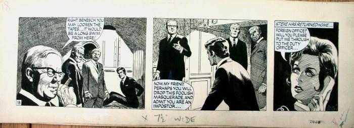 A Paul Temple strip drawn by John McNamara. Via Comicart.dk - Peter Hartung
