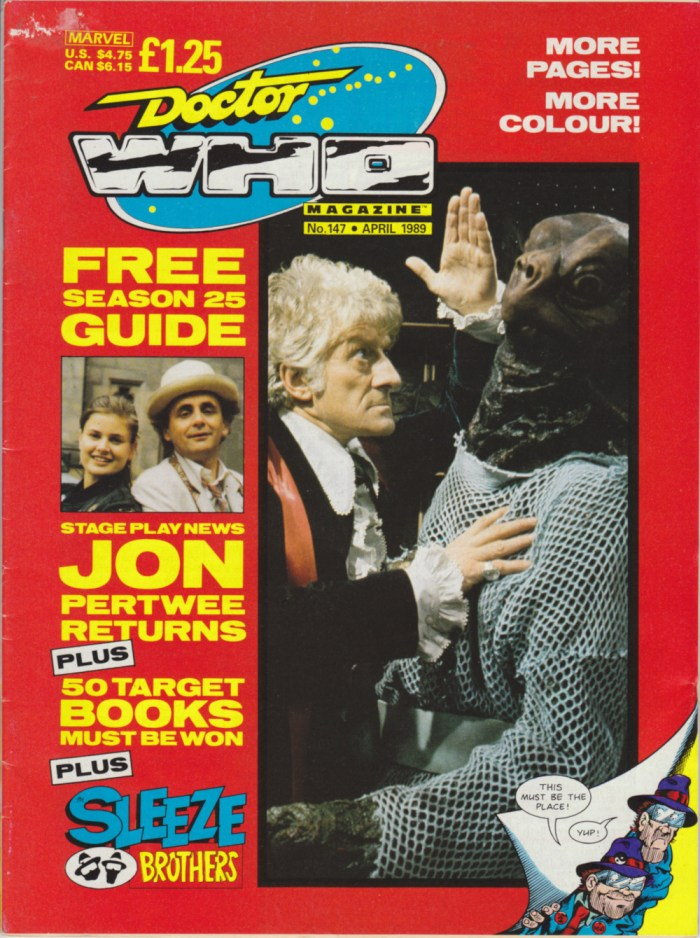 The Sleeze Brothers sneak onto the cover of Doctor Who Magazine #147