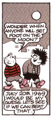 The Beano's Dennis the Menace predicts the date of the first moon landing