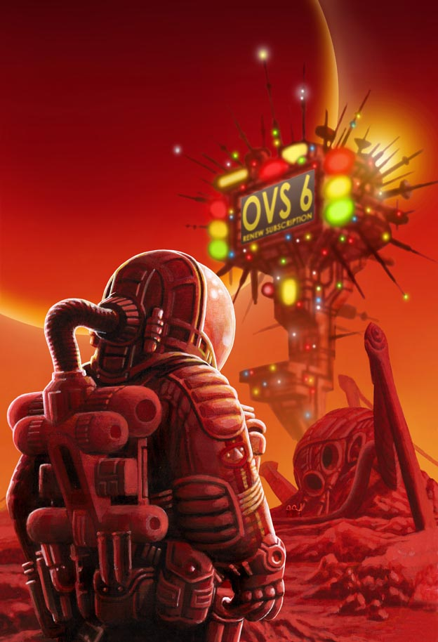 Paul McCaffrey's cover for the SF comic magazine Omnivistascope ((Issue 6)