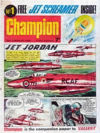 Champion cover star 'Jet Jordan' reprinted 'Dan Cooper' from Belgium's Tintin magazine