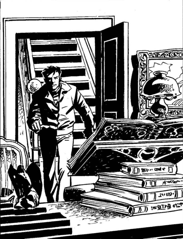 Art from the 2000AD Terror Tale 'Birth of Mazzikim' by David Baillie and Redondo