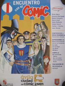 Spanish comic convention poster by Jesus Redondo