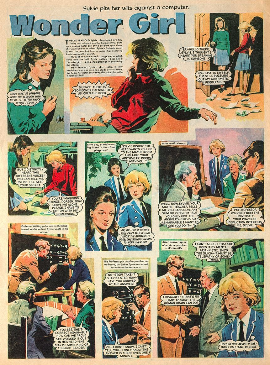 """Winder Girl"" from Diana (with thanks to Philip Rushton)© DC Thomson"