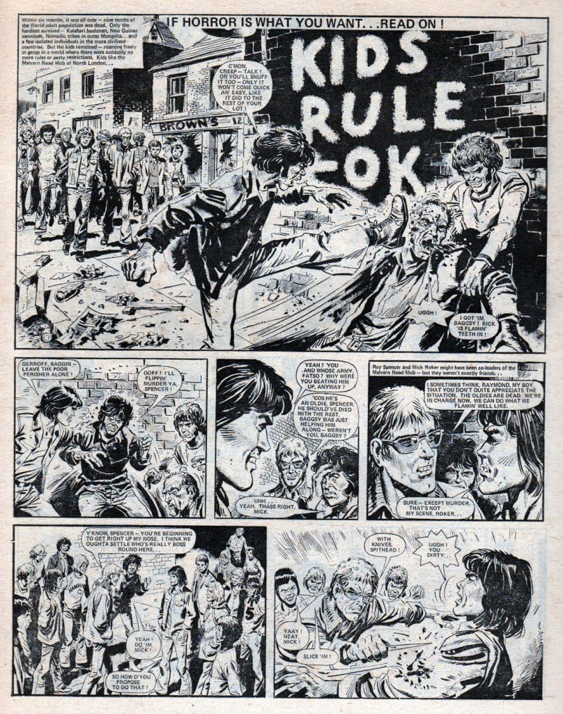 """Kids Rule OK"", from Action - art by Mike White"