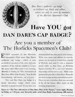 Dan Dare on Radio Luxembourg - Horlicks Ad