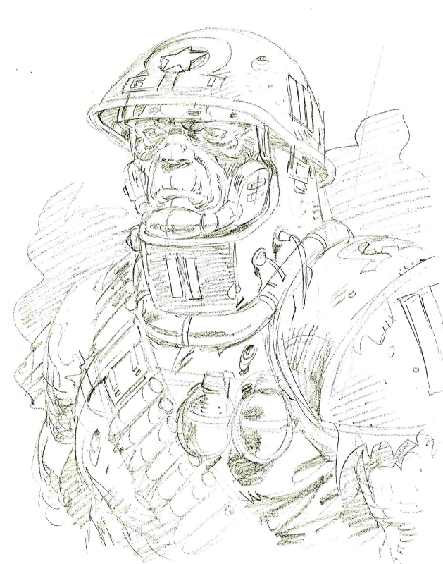 Rogue Trooper Concept Art by Dave Gibbons