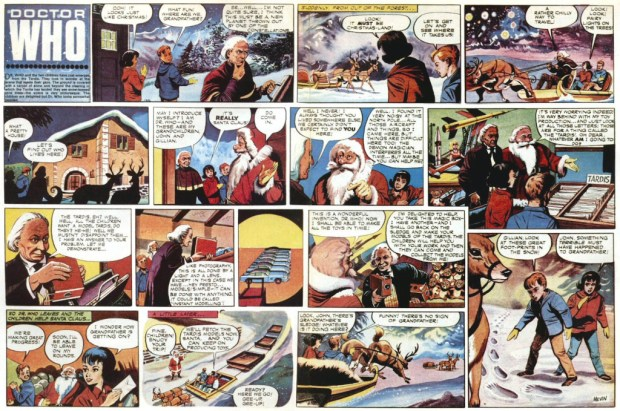 An early Doctor Who comic spread from TV Comic