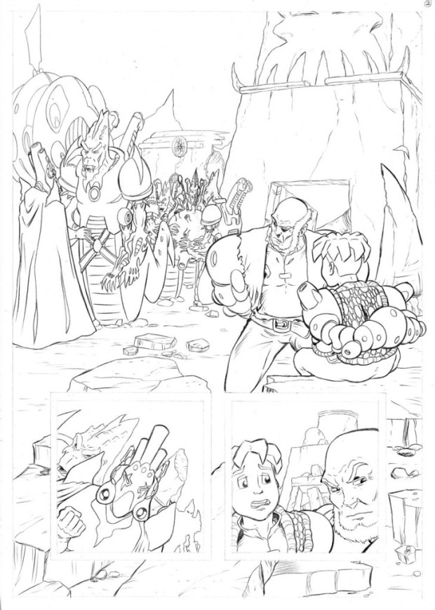 Pencils for a page from Worlds End Volume 2