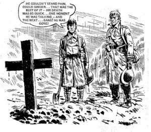 "Art from ""Charley's War"", written by Pat Mills and drawn by Joe Colquhoun"