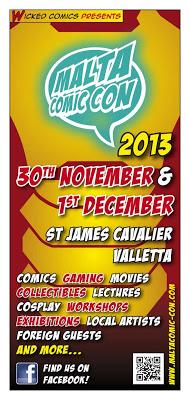 Malta Comic Con 2013 - Flyer