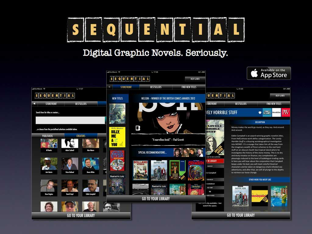 SEQUENTIAL Digital Comics App goes global, adds more new