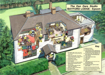 A cutaway of Bayford Lodge by Graham Bleathman, which featured in Spaceship Away Issue 16.