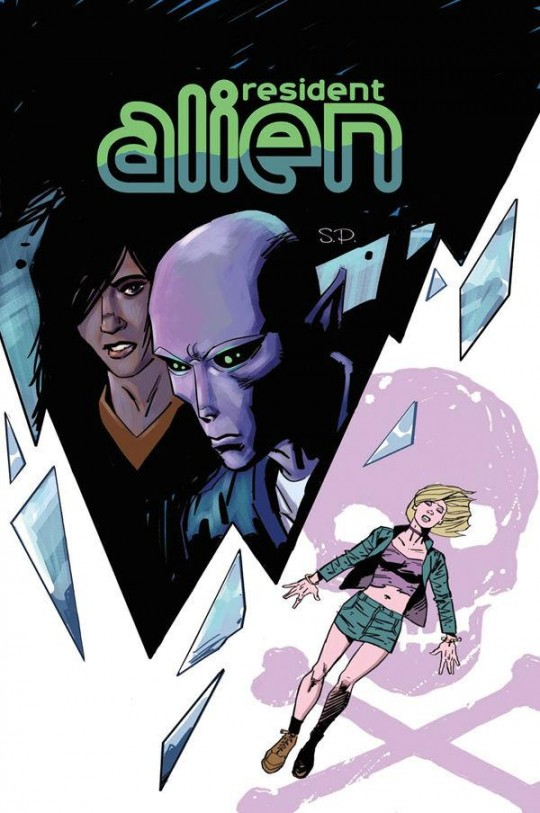 The cover of Resident Alien: The Suicide Blonde #1, on sale in September.