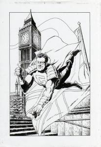 The Golden Grenadier, an unpublished Marvel UK character. Two issues were completed.
