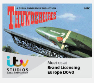 ITV Studios ad for Thunderbirds for the Licensing Expo