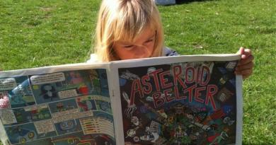 The 2013 British Science Festival prouduced 10,000 copies of Asteroid Belter, a comic newspaper promoting science. Photo: Newcastle Science Comic