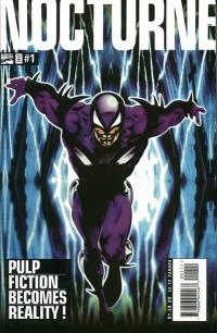 The first issue of Marvel's four issue mini series Nocturne, an updating of the Night Raven character published first published June 1995.