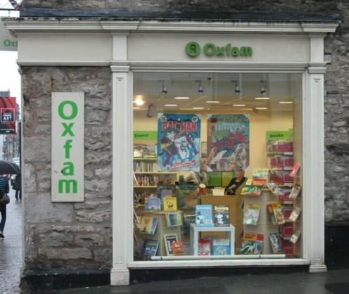 Oxfam Window, Lakes International Comic Art Festival 2013, Kendal