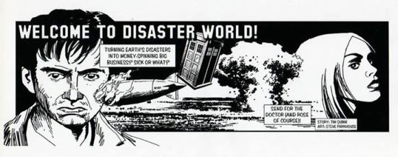 Doctor Who newspaper strip sample by Tim Quinn and Steve Parkhouse