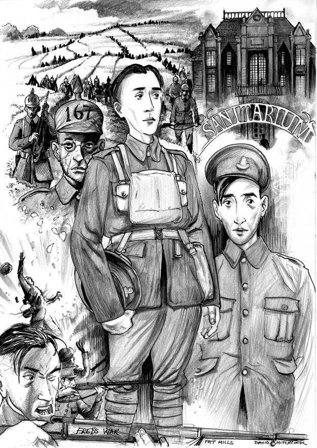 Early artwork for 'Fred' by David Hitchcock, a new World War One project written by Pat Mills