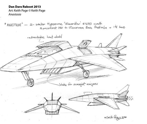 Dan Dare Reboot Designs by Keith Page. Art © Keith Page. Dan Dare © The Dan Dare Corporation