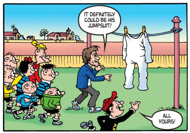 The Bash Street Kids help Richard Hammond track down the Stig in The Beano