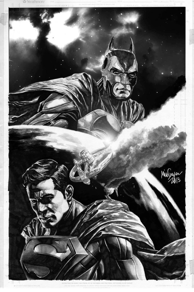 Batman and Superman donated by Mico Suayan to raise funds to help victims of Hurricane Haiyan and other disasters in the Philippines.