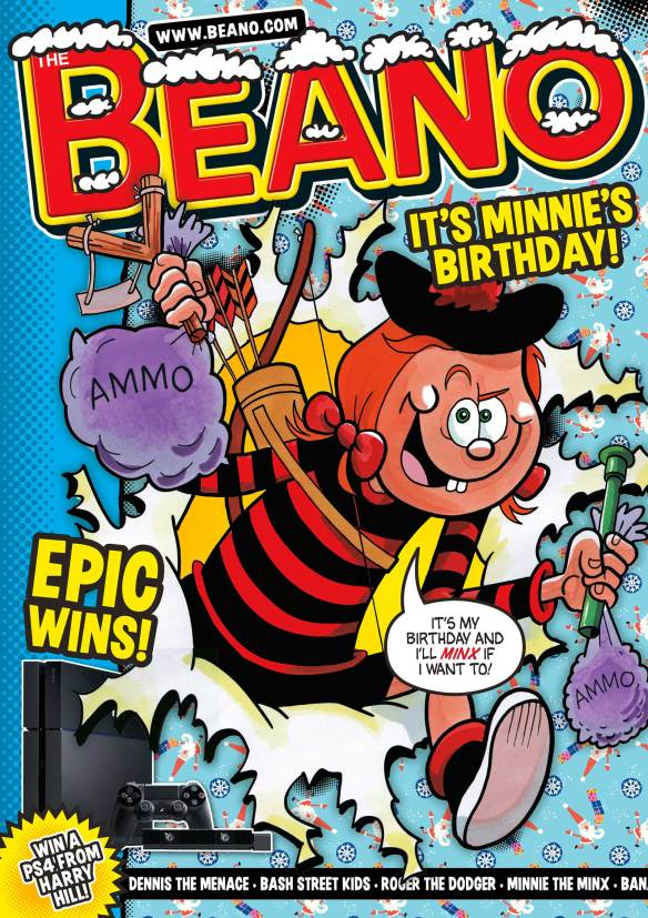 Minnie the Minx 60th Anniversary Beano Cover