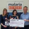 SEQUENTIAL's Chloe Pursey with the Malaria No More team