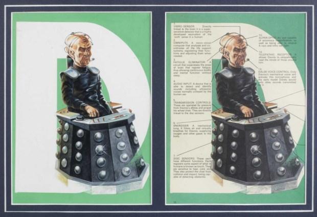 Daros art fo the 1978 Dalek Annual