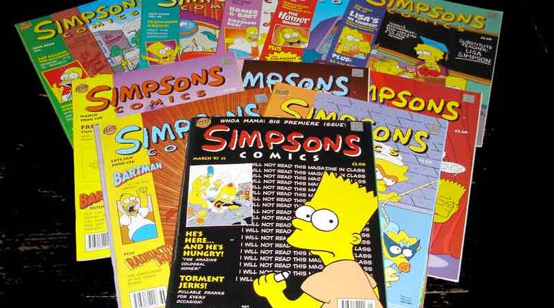 Early issues of Titan's Simpsons Comics magazine, which is now available digitally