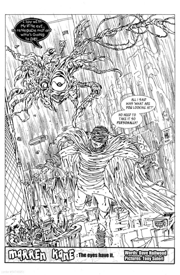 The opening page of Marren Kane, art by Tony Suleri