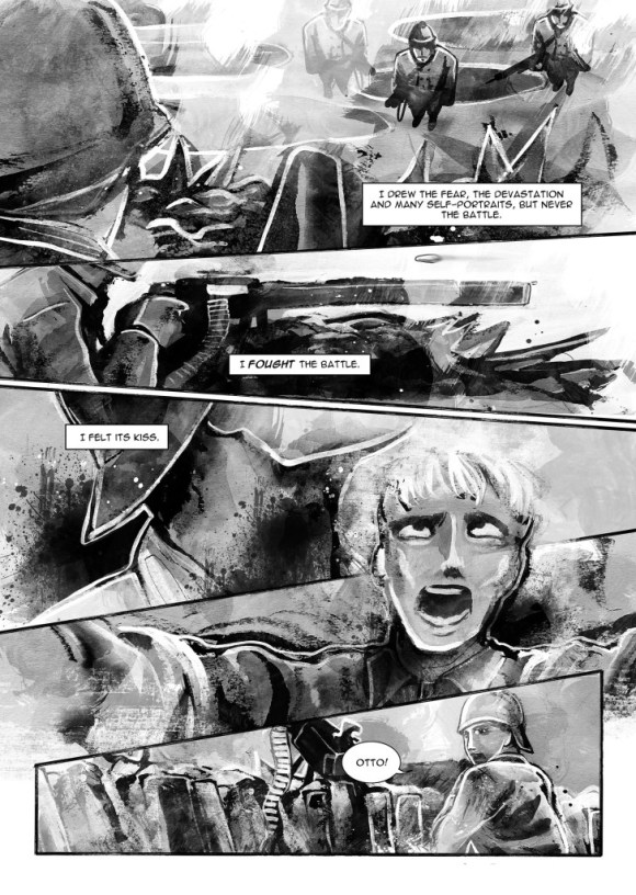 A page from Die and Become - story by John Stuart Clark and art by Sarah Jones.